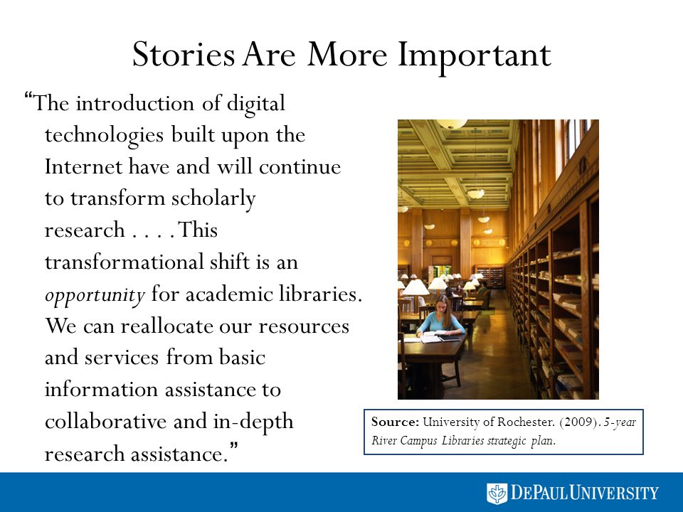 Stories Are More Important The introduction of digital technologies built upon the Internet have and will continue to transform scholarly research....