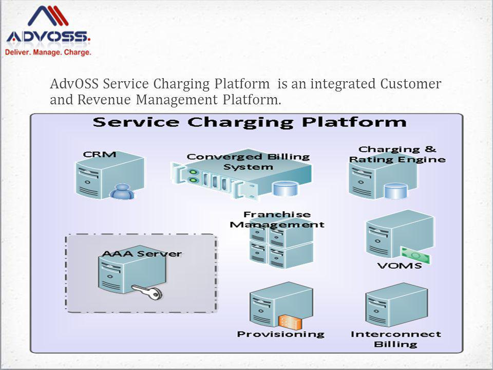 AdvOSS Service Charging Platform is an integrated Customer and Revenue Management Platform.