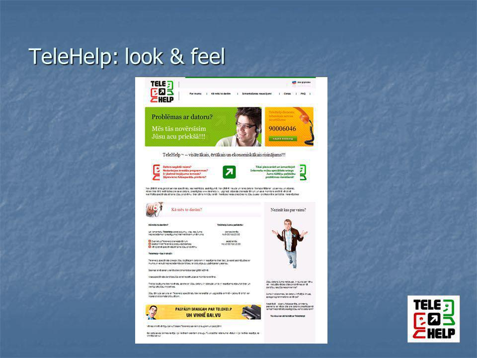 TeleHelp: look & feel