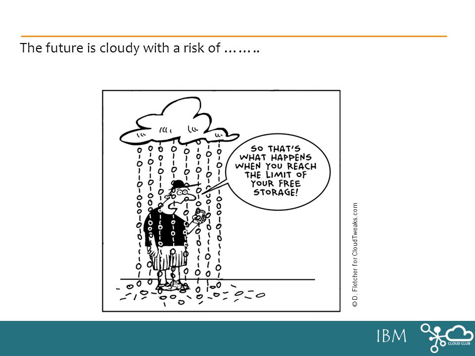 IBM The future is cloudy with a risk of …….. © D. Fletcher for CloudTweaks.com