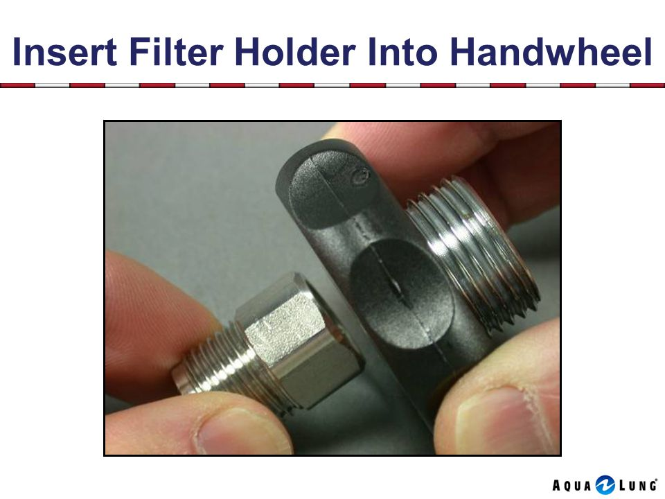Insert Filter Holder Into Handwheel
