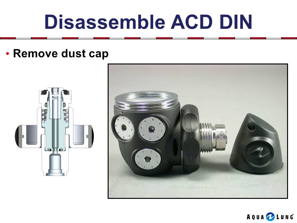 Disassemble ACD DIN Remove dust cap