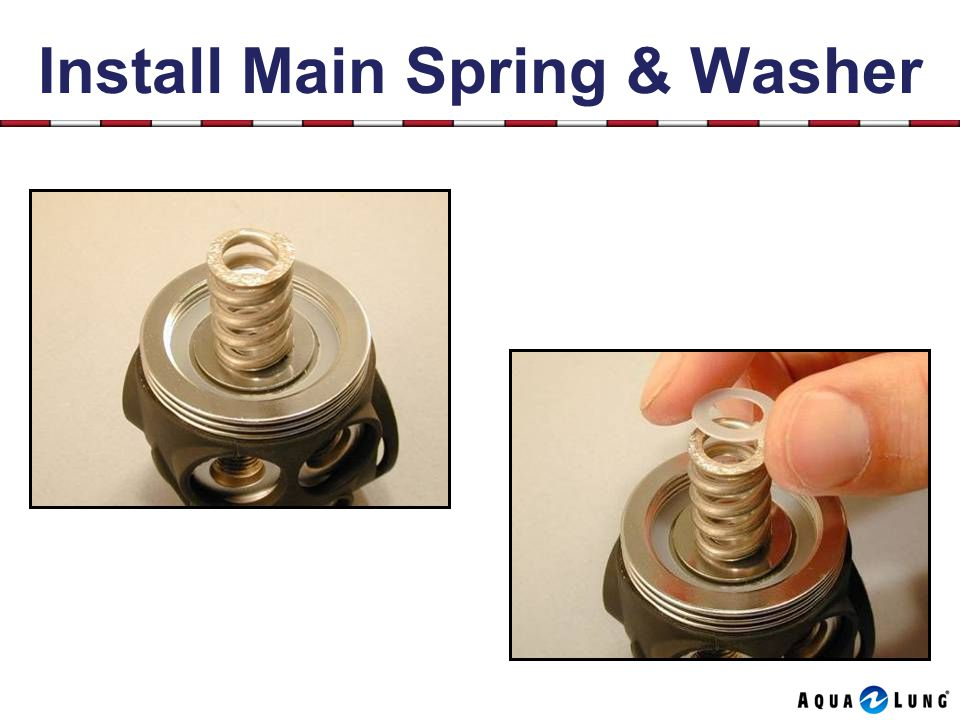 Install Main Spring & Washer