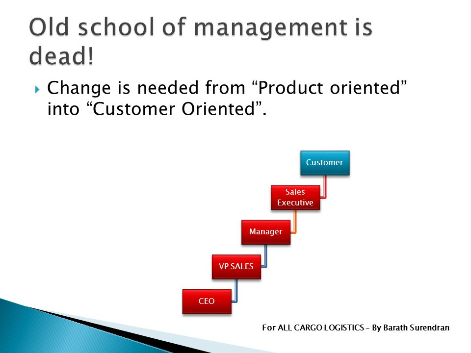 Change is needed from Product oriented into Customer Oriented.