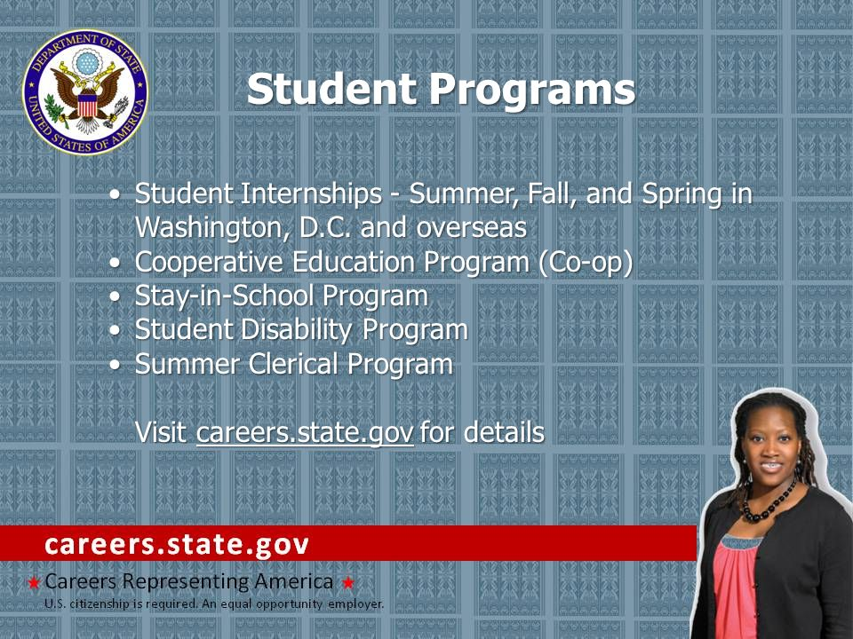 Student Internships - Summer, Fall, and Spring in Washington, D.C.