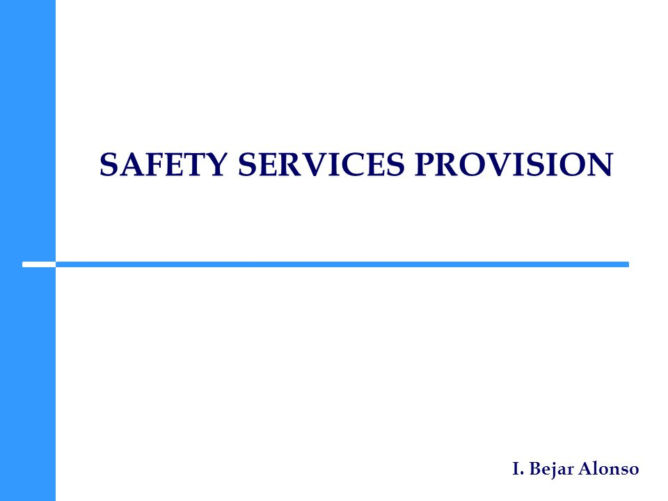 SAFETY SERVICES PROVISION I. Bejar Alonso