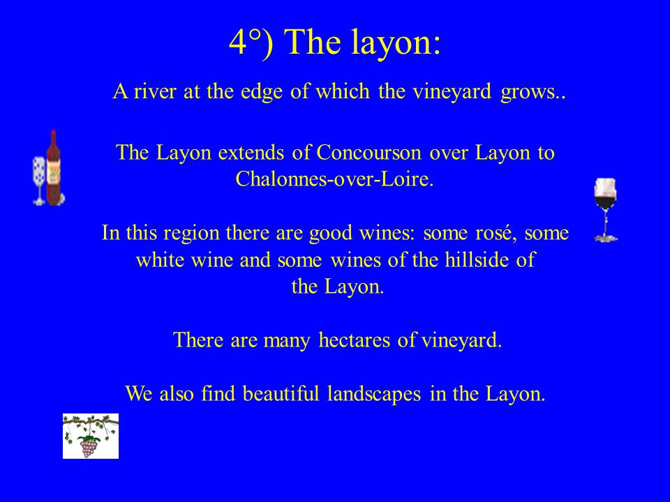 4°) The layon: A river at the edge of which the vineyard grows..