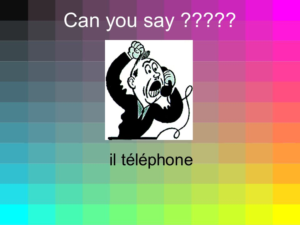 Can you say il téléphone