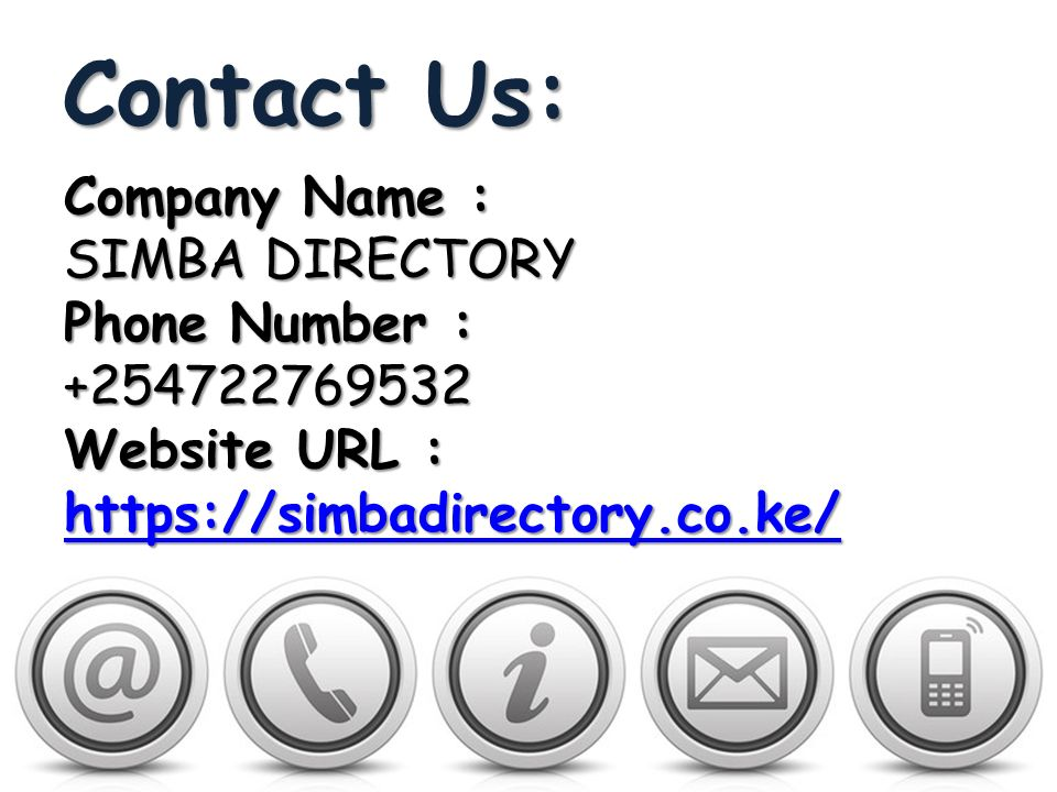 Simba Directory: Cheap Local Business Listings Sites Kenya