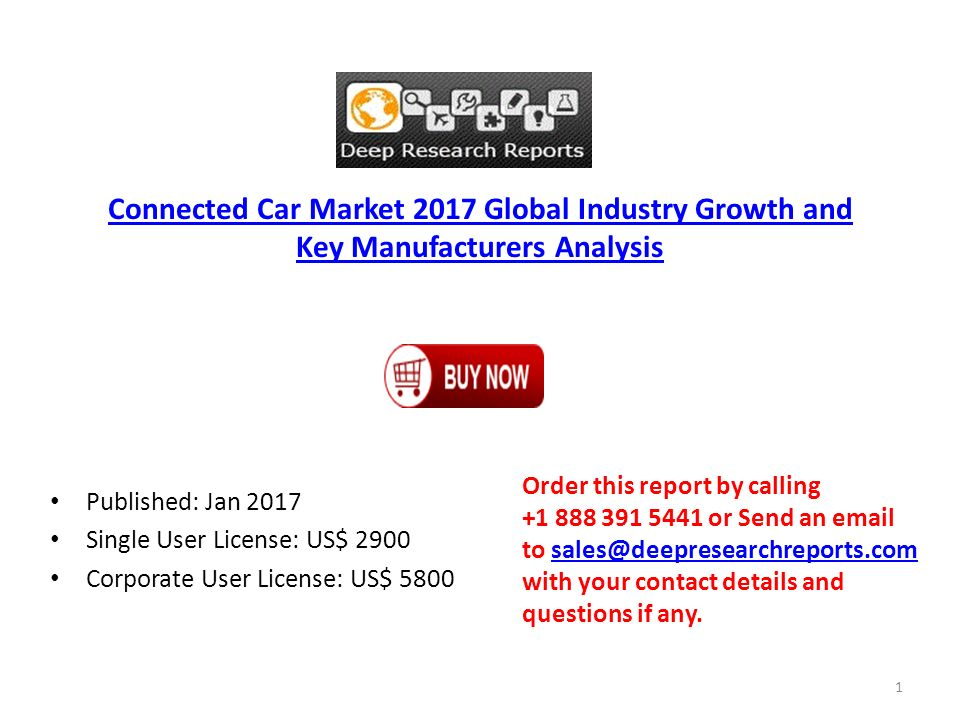 Connected Car Market 2017 Global Industry Growth and Key