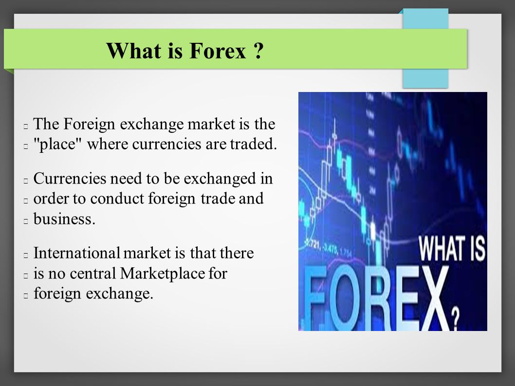 Basics Of Forex Rate Ppt