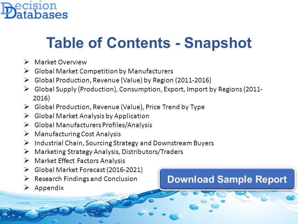 marketing research report example Your market analysis should include an overview of your industry, a look at your target market, an analysis of your competition, your own projections for your business, and any regulations you'll need to comply with.