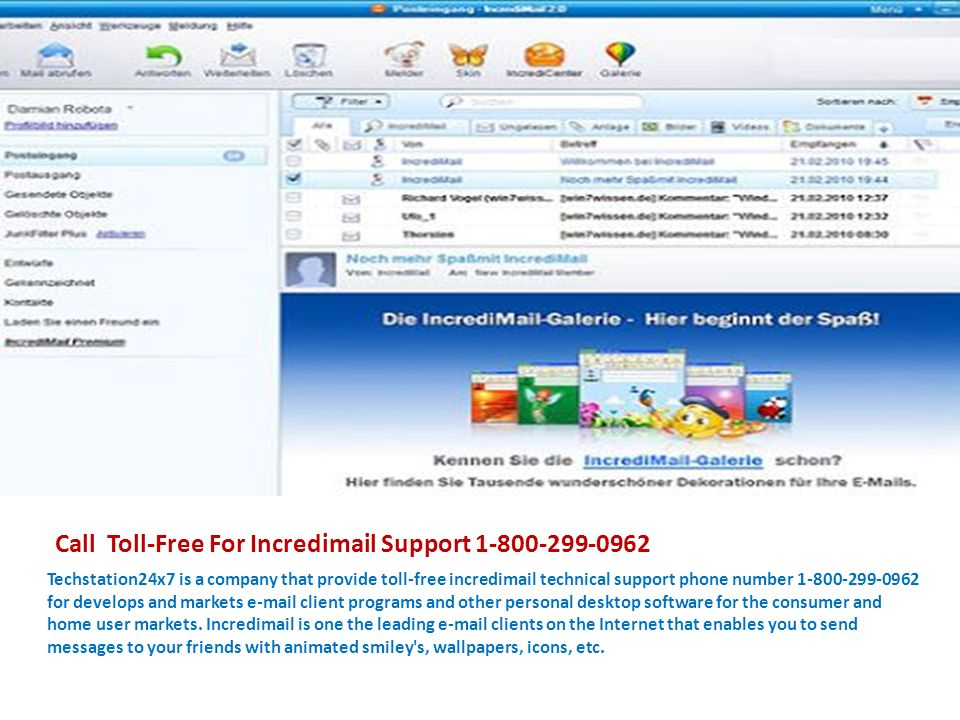 Incredimail Technical Support Phone Number For More Details