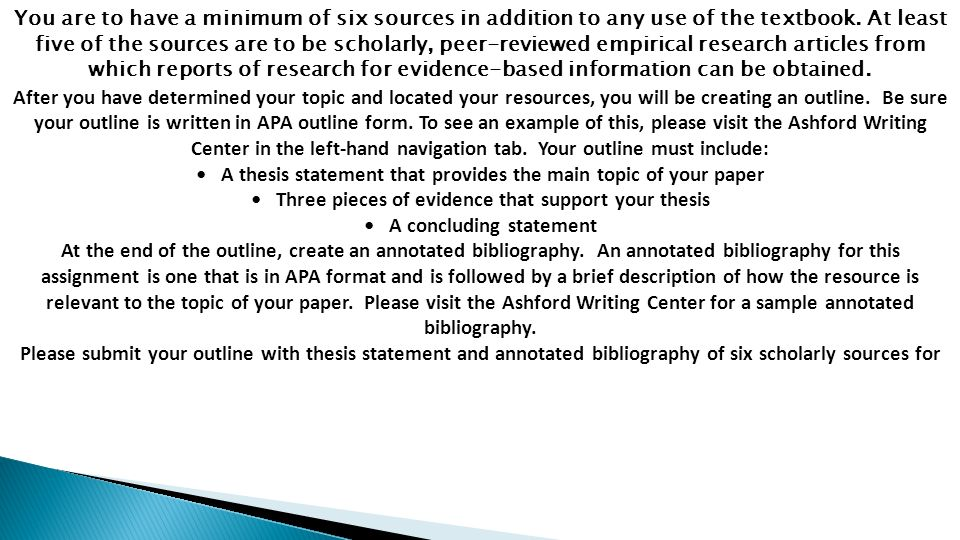 PSY 104 Week 3 Assignment Outline And Annotated Bibliography Check This A Tutorial Guideline At 2 You
