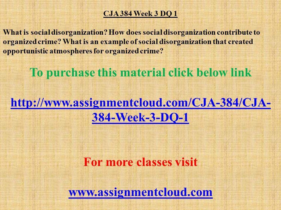 social disorganization theory for dummies