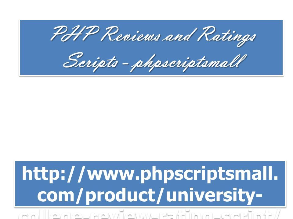 PHP Reviews and Ratings Scripts - phpscriptsmall com/product