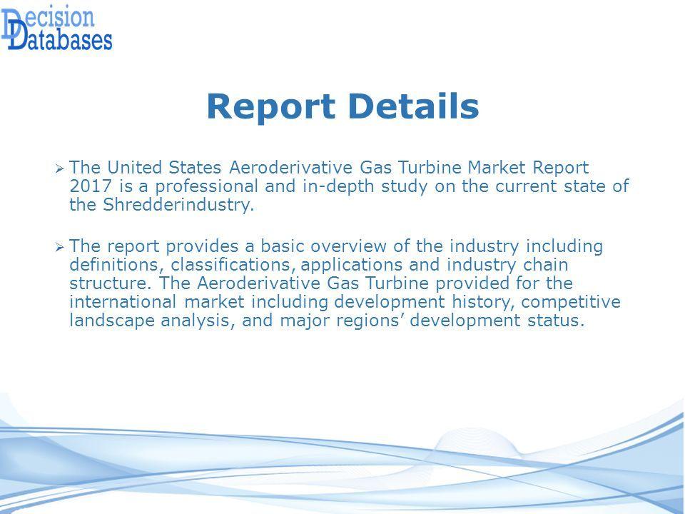 United States Aeroderivative Gas Turbine Market Report ppt
