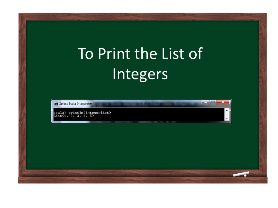 To Print the List of Integers