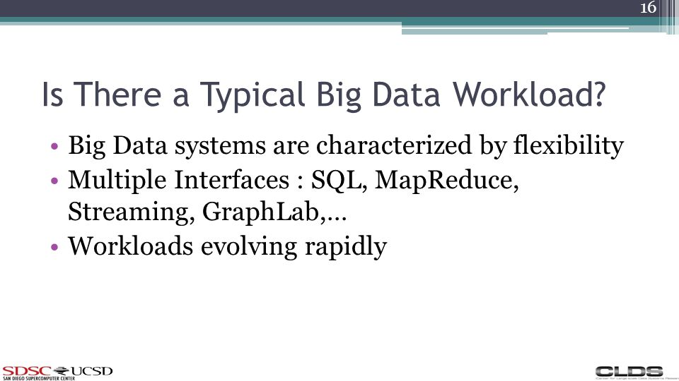 Is There a Typical Big Data Workload.