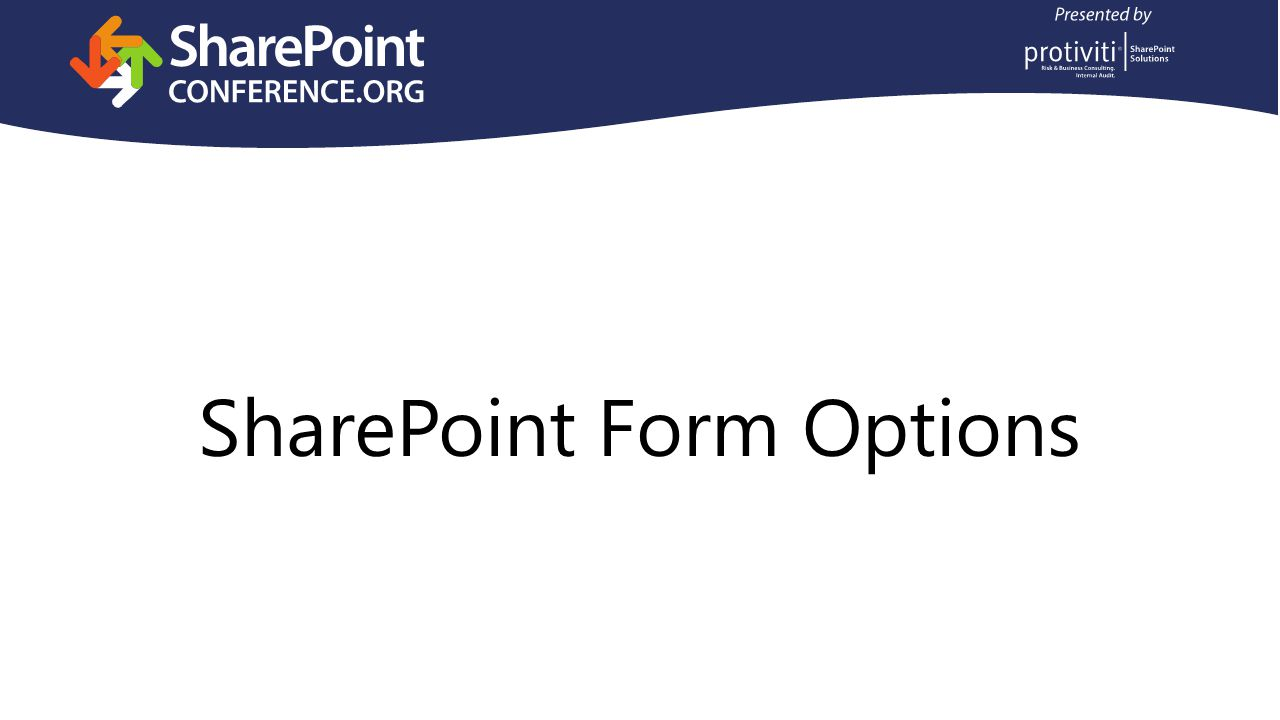 SharePoint Form Options