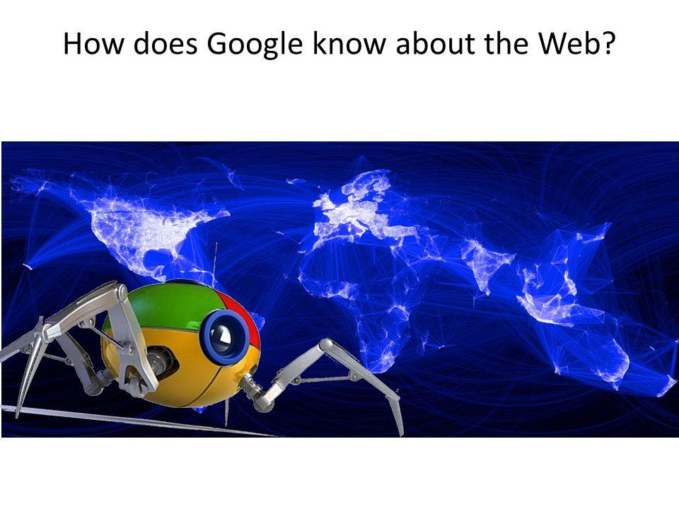 How does Google know about the Web