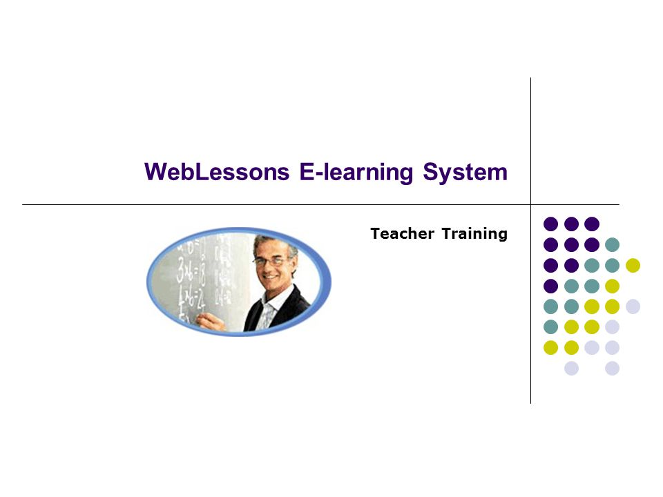 WebLessons E-learning System Teacher Training