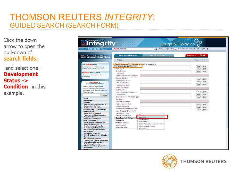 THOMSON REUTERS INTEGRITY SM : INTEGRATED DRUG DISCOVERY AND