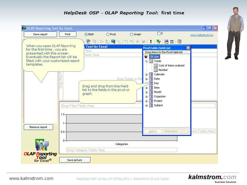 HelpDesk OSP OLAP Reporting Tool: first time When you open OLAP Reporting for the first time, you are presented with this screen.