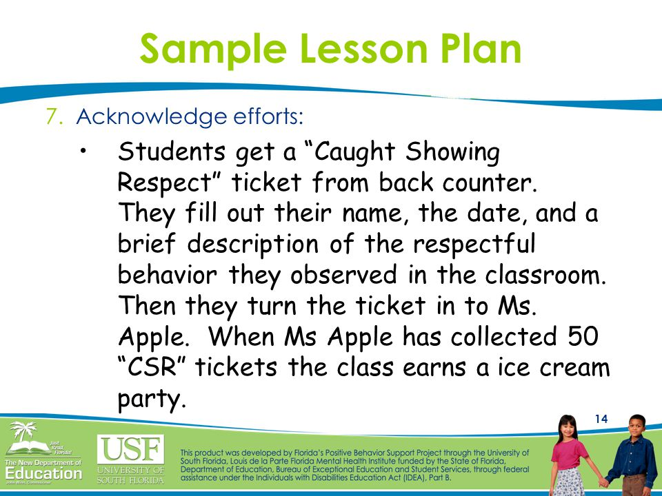 14 Sample Lesson Plan 7.