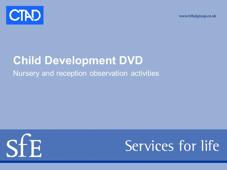 Child Development DVD Nursery and reception observation activities
