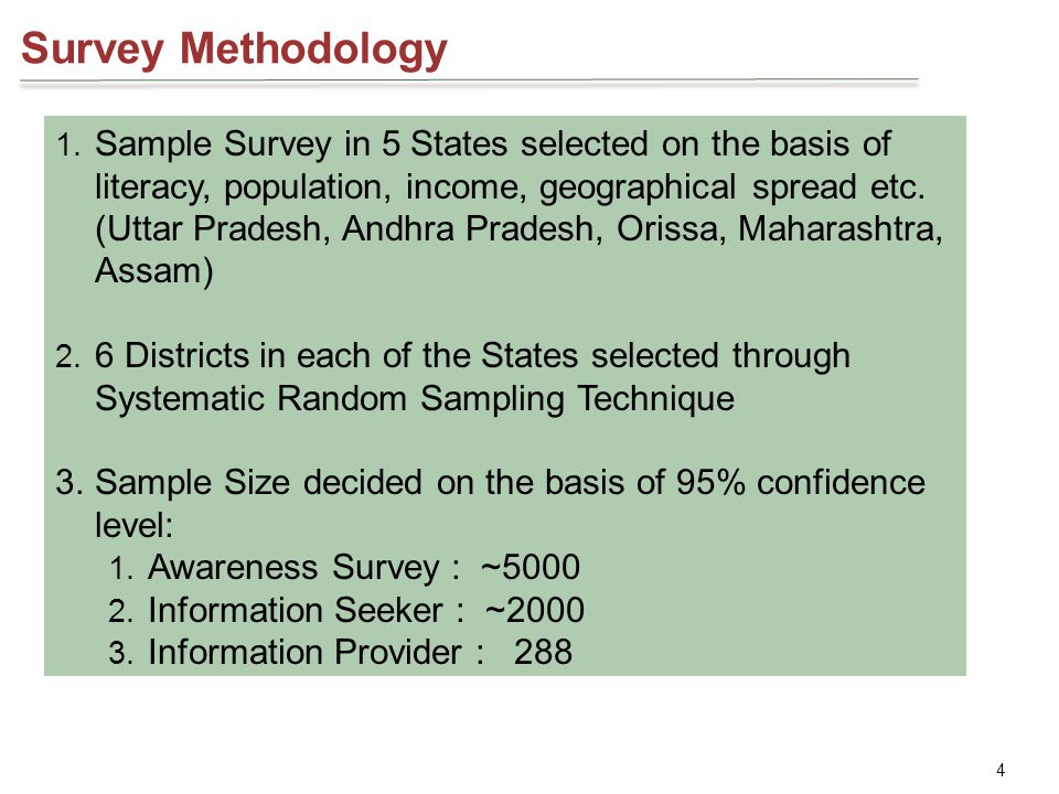 4 Survey Methodology 1.