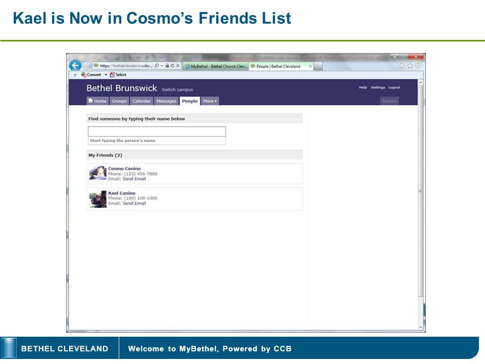 Welcome to MyBethel, Powered by CCBBETHEL CLEVELAND Kael is Now in Cosmos Friends List