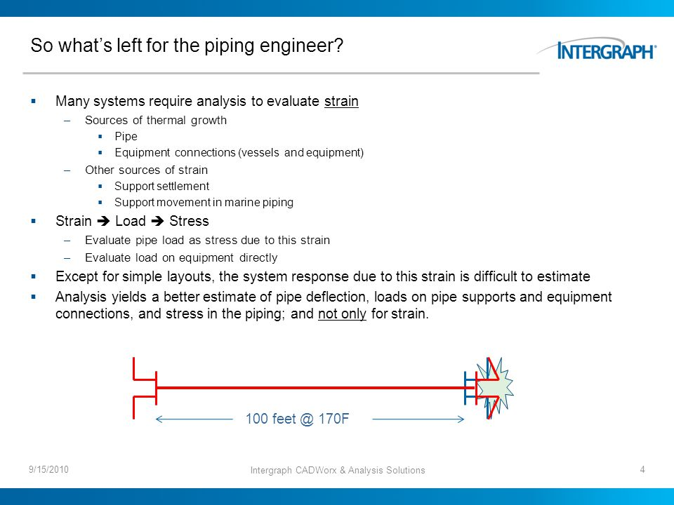 So whats left for the piping engineer.