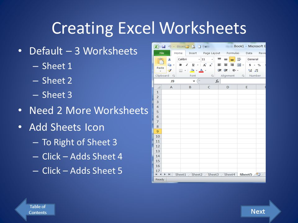 Creating your Excel Workbook Table of Contents Next File Location: Your Z Drive – Problem Solving Folder if you have one… File Name: Last Name_ID#_Battleship Example: Stevens_123456_Battleship