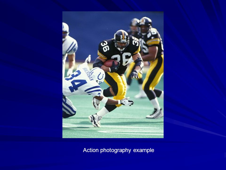 Action photography example