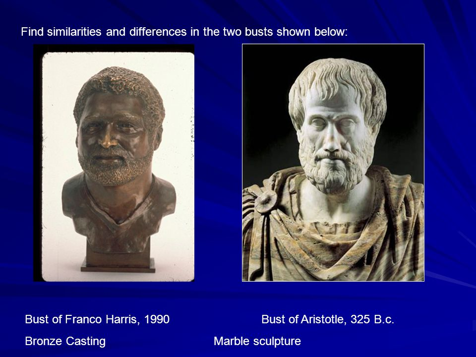 Bust of Franco Harris, 1990 Bust of Aristotle, 325 B.c.
