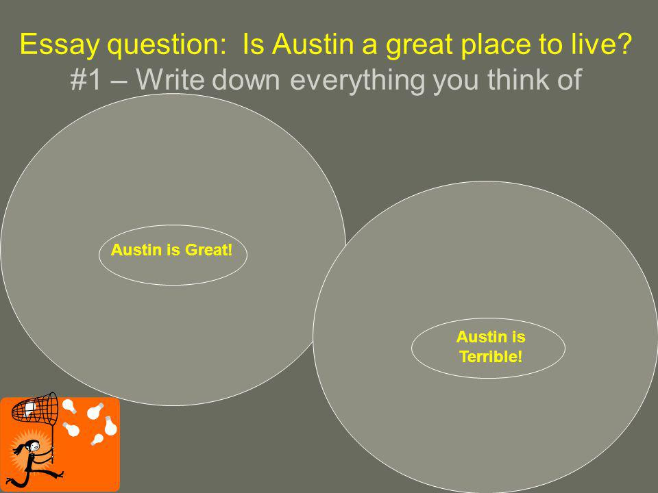 Essay question: Is Austin a great place to live.