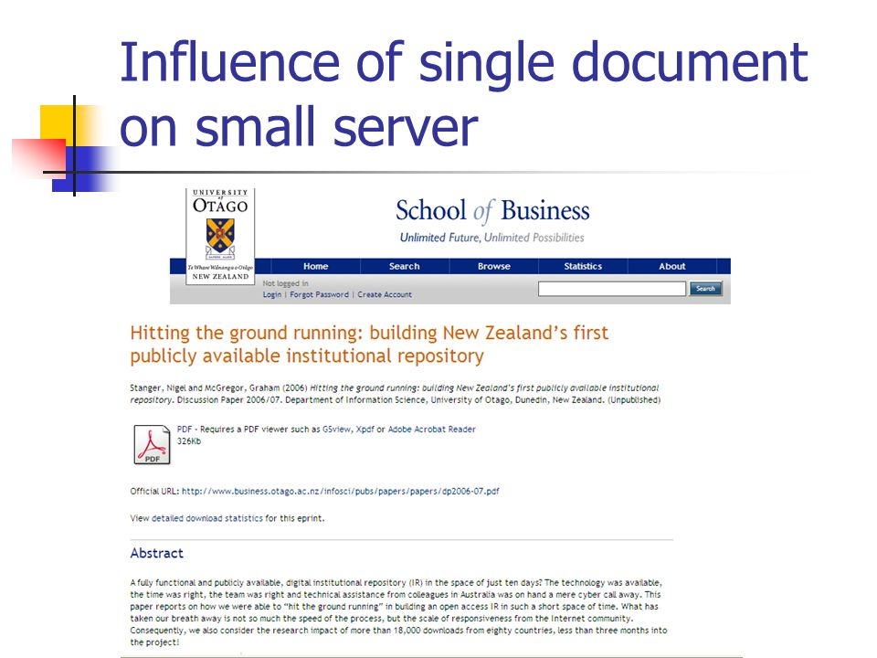 Influence of single document on small server