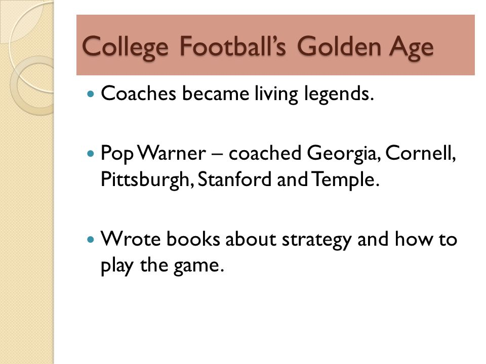 College Footballs Golden Age Coaches became living legends.