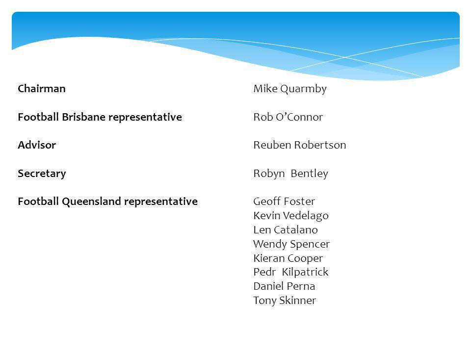The Competitions Review Committee was set up at the request of the Clubs and Football Brisbane Executive.