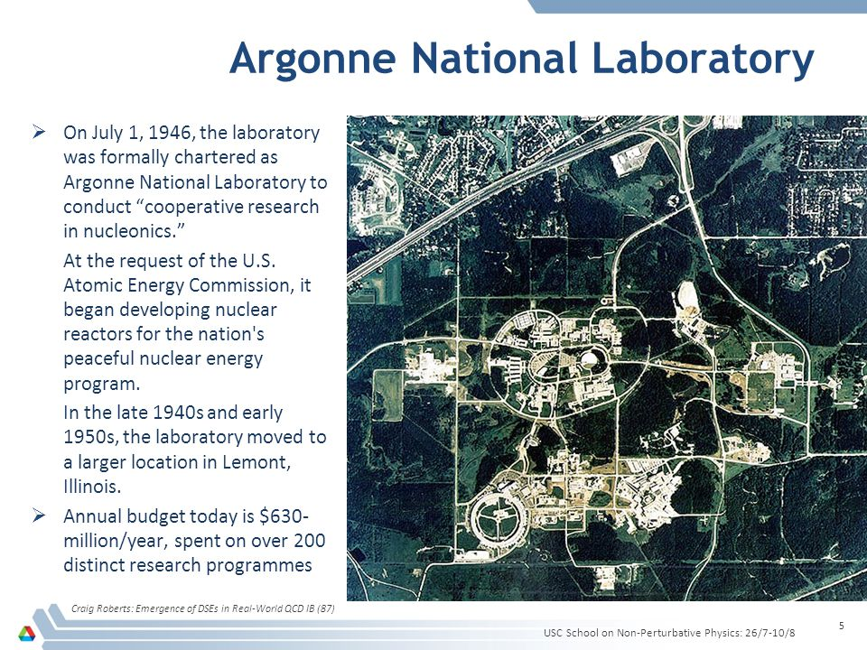 Argonne National Laboratory On July 1, 1946, the laboratory was formally chartered as Argonne National Laboratory to conduct cooperative research in nucleonics.