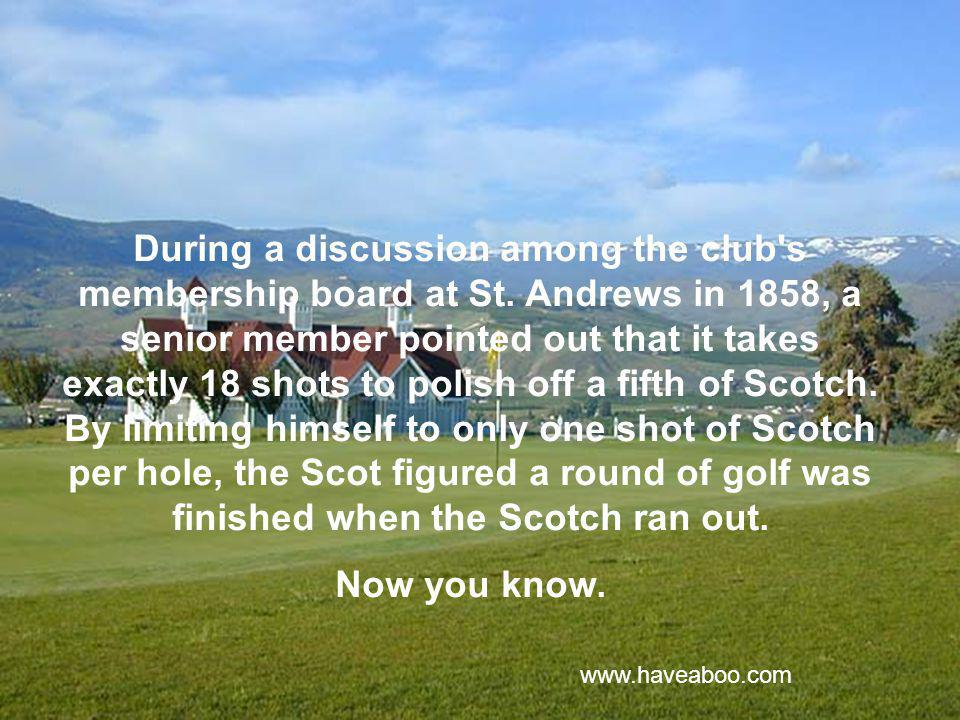 Here s a little slice of golf history that you might enjoy.