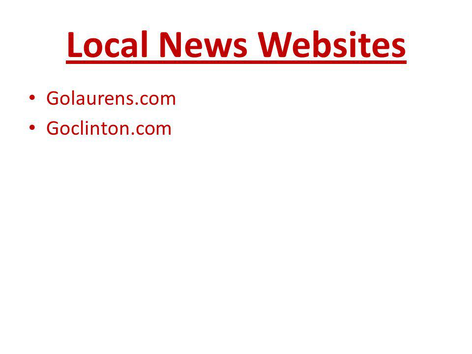 Local News Websites Golaurens.com Goclinton.com