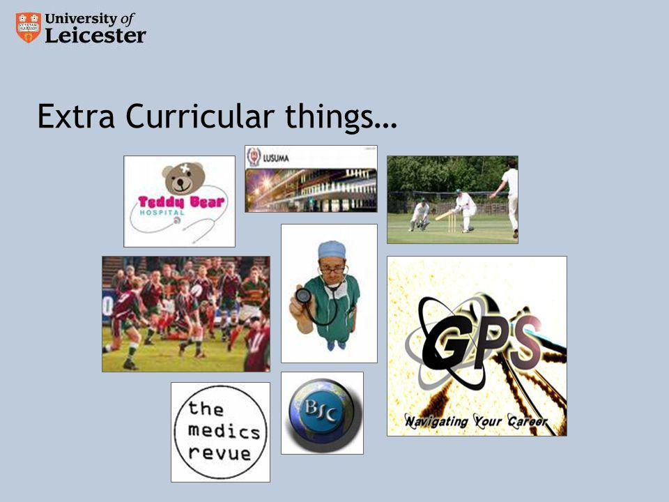 Extra Curricular things…