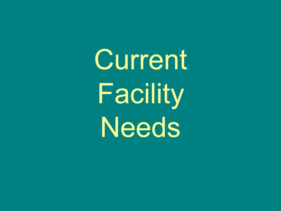 Current Facility Needs