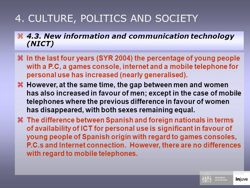4. CULTURE, POLITICS AND SOCIETY z4.3.