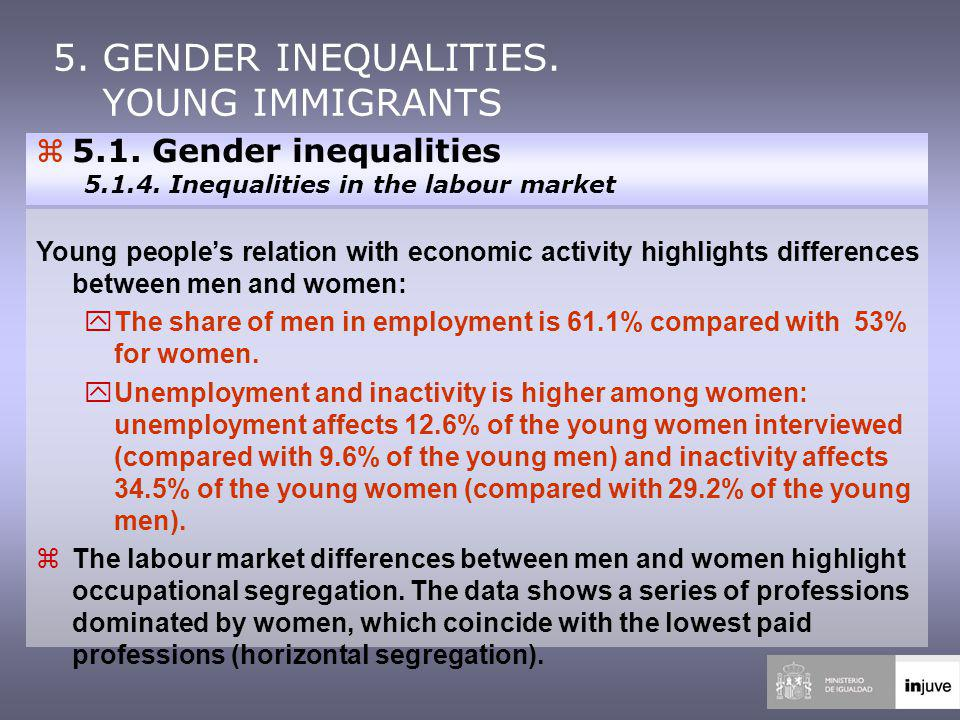 z5.1. Gender inequalities 5.1.4.