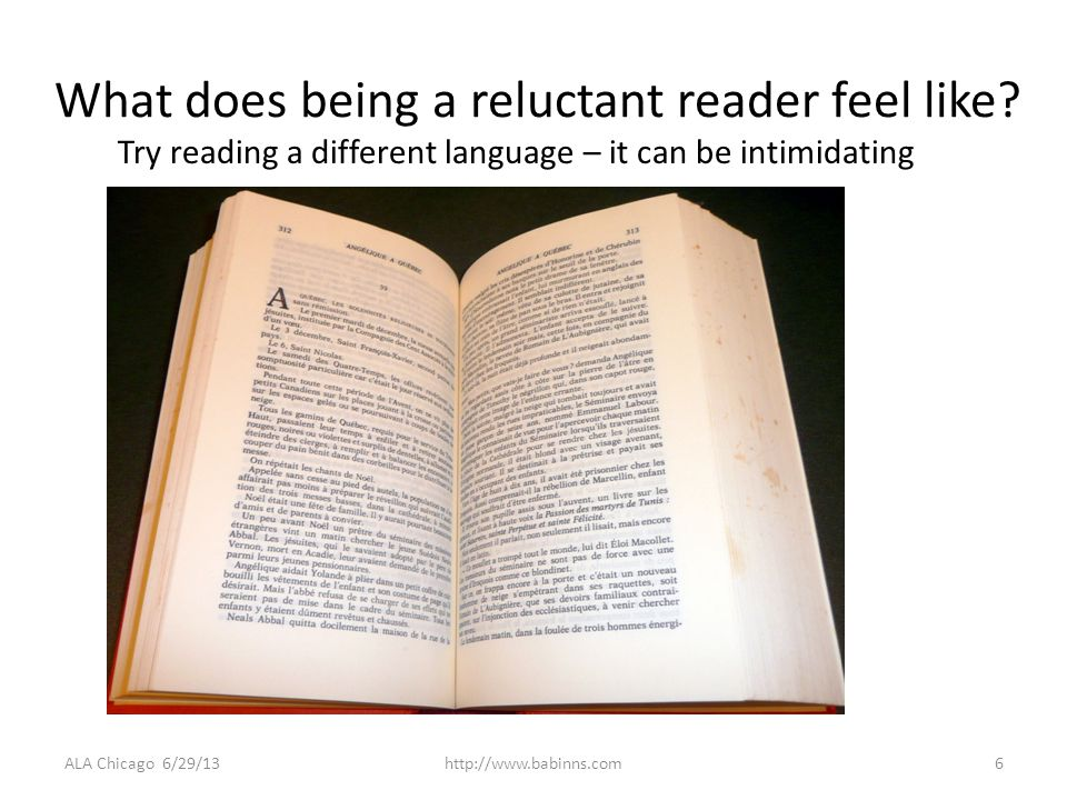 What does being a reluctant reader feel like.