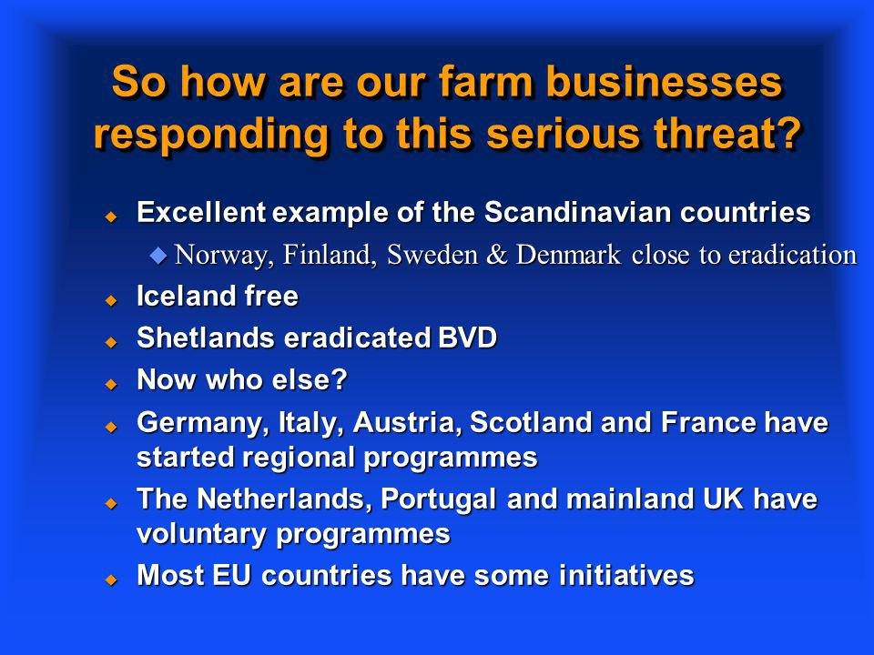 So how are our farm businesses responding to this serious threat.