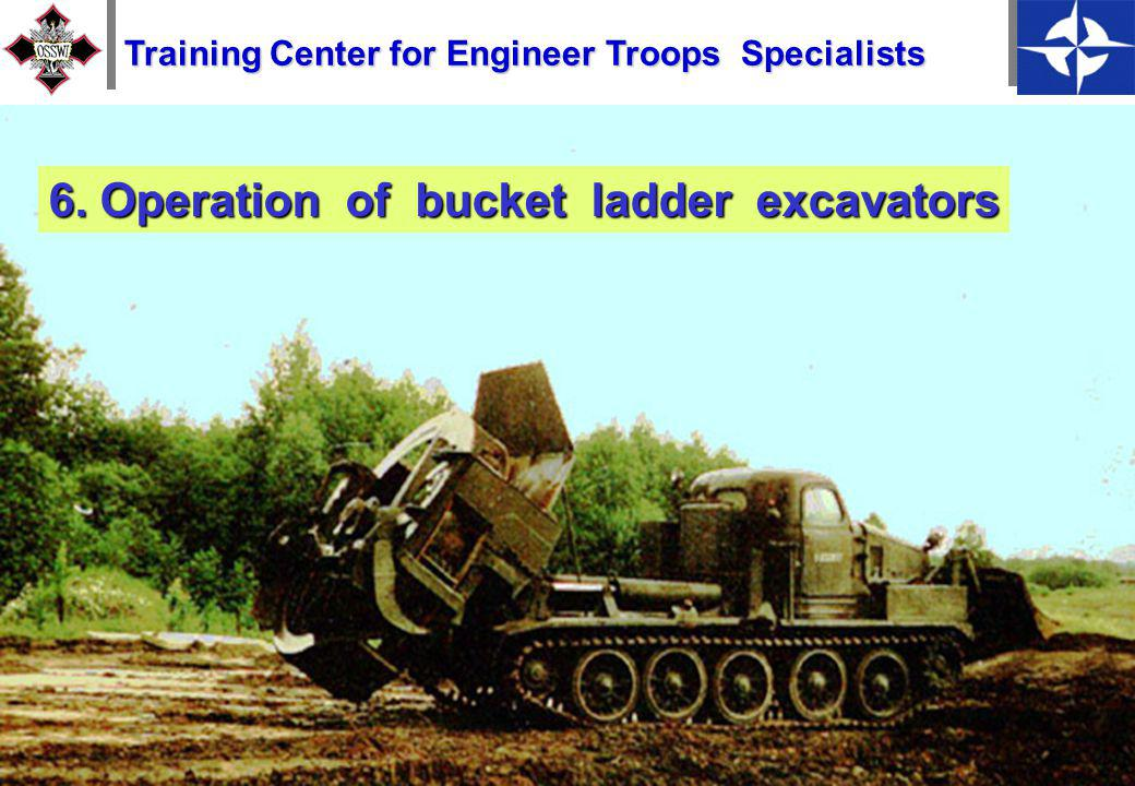 16 5. Operation of single-bucket excavators Training Center for Engineer Troops Specialists
